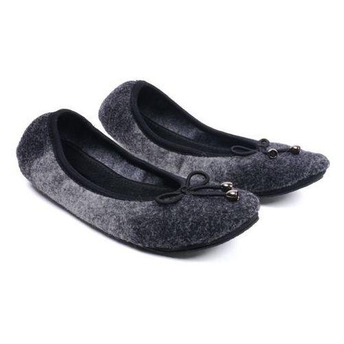 Czarne pantofle domowe damskie  B-07 40 czarny marki Panto Fino