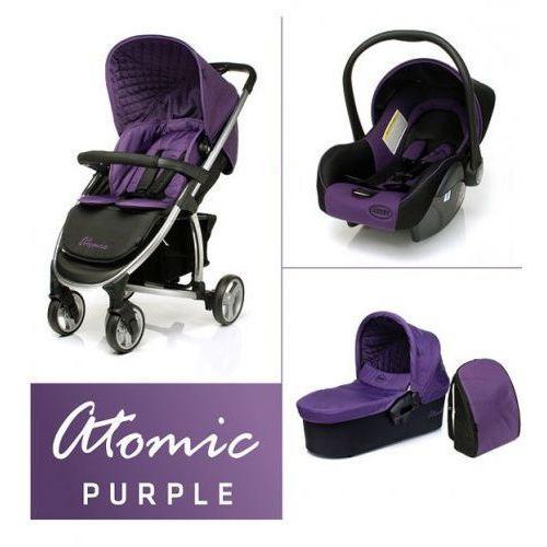 4baby Wózek 3w1  atomic purple