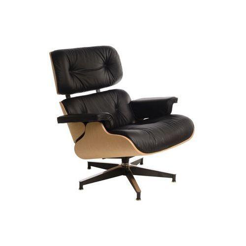 Fotel Vip inspirowany Lounge Chair - czarny ||natural (5902385717007)