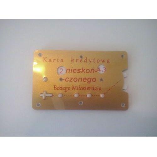 Różaniec mechaniczny w karcie kredytowej (złoty-srebrny)