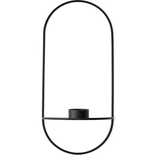 Świecznik pov owalny na tealighty czarny marki Menu