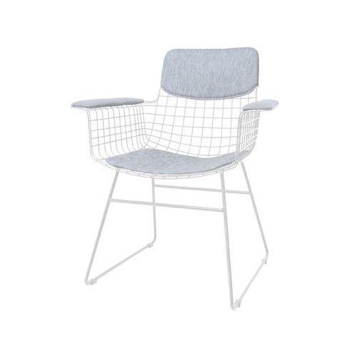 Hk living zestaw comfort szary do krzesła metalowego wire z podłokietnikami taa1286 (8718921006231)