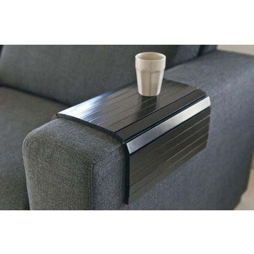 :: podstawka flexible xl na podłokietnik sofy - czarna - czarny marki Woood