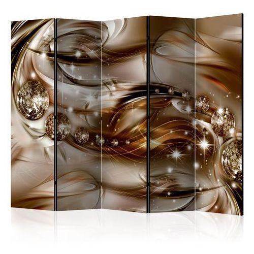 Parawan 5-częściowy - czekoladowy przypływ ii [room dividers] marki Artgeist