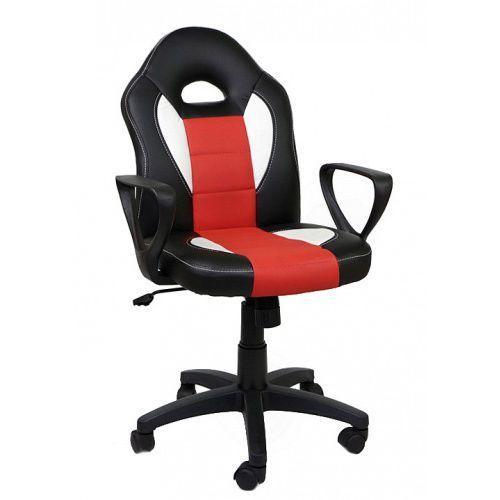Fotel obrotowy Feri Black/White/Red z kategorii Krzesła i fotele biurowe