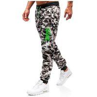 J.style Spodnie męskie dresowe joggery moro-szare denley 55093