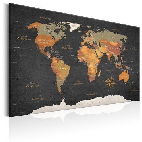 Obraz - mapa świata: tajemnice ziemi marki Artgeist