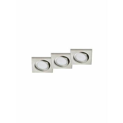 Trio rila 650210307 oczko komplet 3 sztuki 3x5w led 3000k nikiel mat (4017807376425)