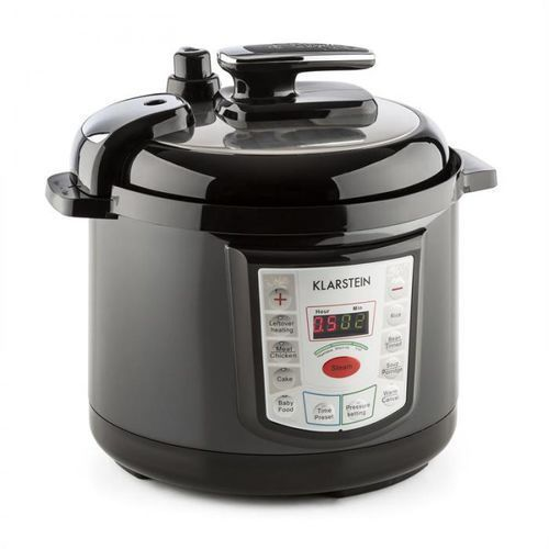 Klarstein Fast Flavour Wielofunkcyjny garnek do gotowania pod ciśnieniem szybkowar 5 l czarny (4260486156042)