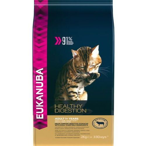 Eukanuba cat adult all breeds healthy digestion lamb & liver 2 kg - darmowa dostawa od 95 zł!