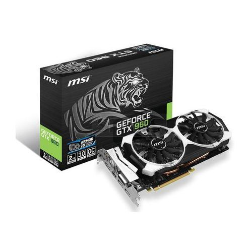 Karta graficzna MSI GeForce GTX 960 2048MB DDR5/128b D/H/DP PCI-E T OC - GTX 960 2GD5T OC