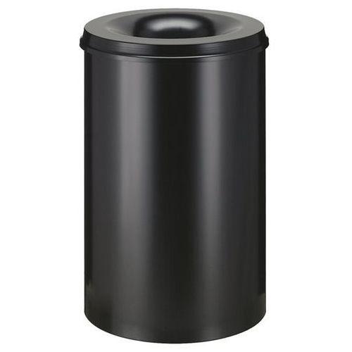 Vepa bins Kosz na papier, samogaszący, poj. 110 l, korpus czarny / głowica gasząca czarna.