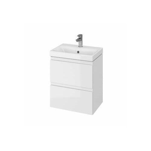 CERSANIT Zestaw łazienkowy MODUO SLIM 50cm biały (szafka+umywalka) S801-229, kolor biały