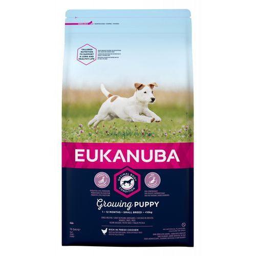 3 kg Eukanuba + 8in1 Fillets Pro Dental, 80 g - Growing Puppy Small Breed, kurczak  DARMOWA Dostawa od 89 zł + Promocje od zooplus!  -5% Rabat dla nowych klientów