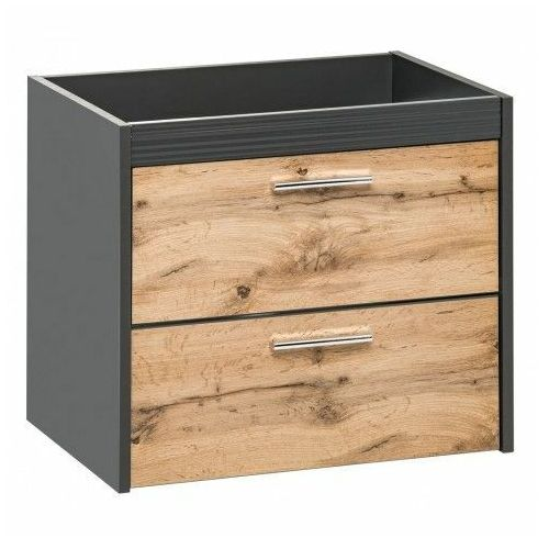 Wisząca szafka łazienkowa pod umywalkę - madryt 3x antracyt marki Producent: elior