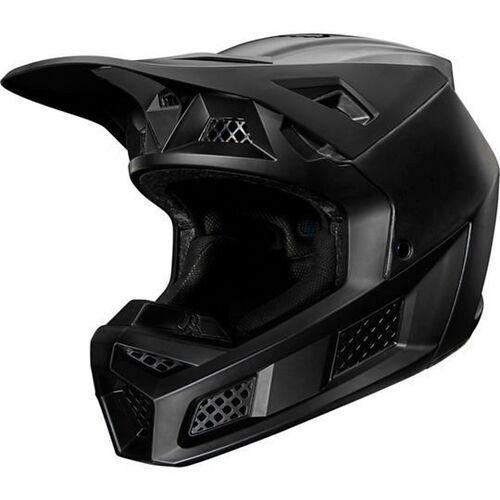 kask off-road v-3 composite solid matte black marki Fox