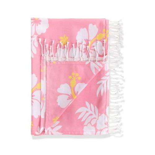 Chusta hammam w kwiaty hibiskusa bonprix jasnoróżowy