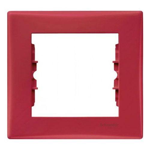 Schneider electric Ramka pojedyncza schneider sedna sdn5800141 czerwona (8690495036725)