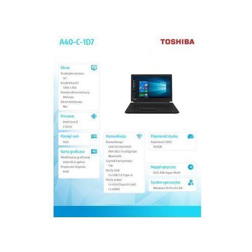 Toshiba satellite pro a40-c-1d9 w10p/i5-6200/8/500/14