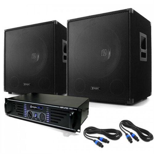 """Electronic-star dj pa set """"lewis 1200 bass tornado"""" 38 cm 1200 w (4260236117910)"""