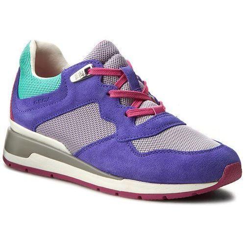 Sneakersy GEOX - D Shahira B D62N1B 02214 C8V8R Lt Purple/Lilac, kolor wielokolorowy