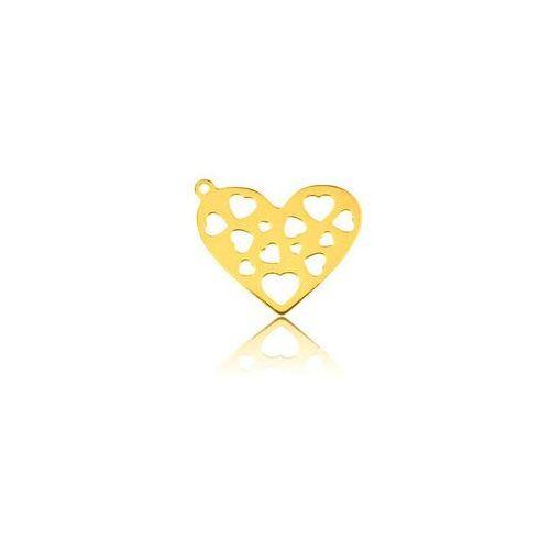 Blaszka ażurowa serce, złoto próba 585 marki 925.pl