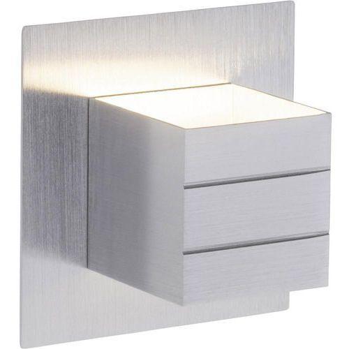 Brilliant Lampa ścienna led fixed g94330/21, led wbudowany na stałe, 540 lm, 3000 k, (dxsxw) 15 x 11.3 x 15 cm, aluminiowy