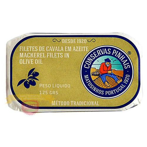 Portugalskie filety z makreli w oliwie z oliwek 125g (5601268100126)