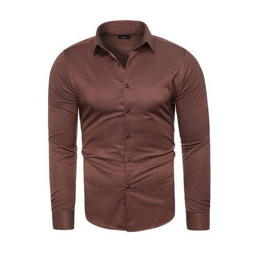 Koszula męska długi rękaw C.S.S 275 - bordowa, w 5 rozmiarach