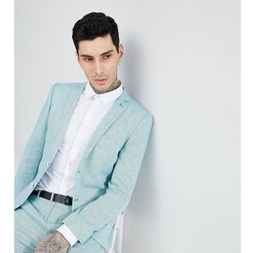 skinny wedding suit jacket in herringbone tweed - green, Heart & dagger
