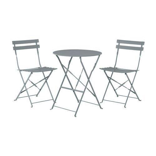 Meble ogrodowe szare 2 krzesła FIORI