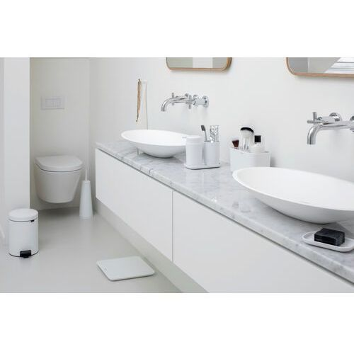 Brabantia - Zestaw akcesoriów łazienkowych - biały - biały (8710755280382)