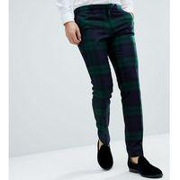 Heart & dagger woven in england tartan trouser - green