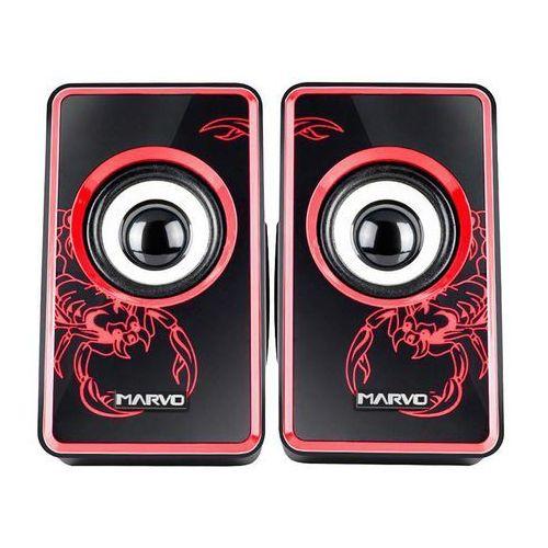 Marvo SG-201 - Głośniki stereo USB & 3,5 mm (czerwony), SG-201RD