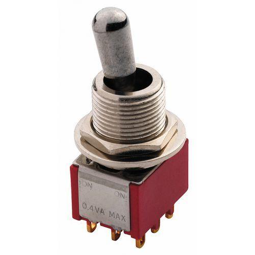 Mec Maxi Toggle switch chromowany ON - ON 3PDT przełącznik gitarowy