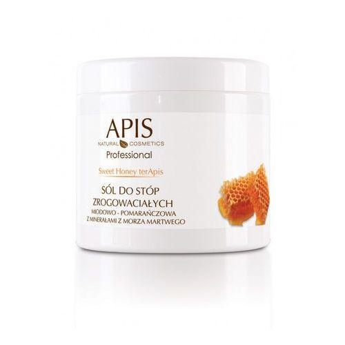 APIS Sweet Honey terApis sól do stóp zmiękczająca miodowo-pomarańczowa z minerałami z Morza Martwego 650 g