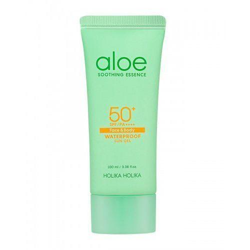 Holika Holika Krem przeciwsłoneczny SPF50++++ do twarzy i ciała z ekstraktem z aloesu, Aloe Waterproof Sun Gel SPF50++++ 100ml (8806334373214)