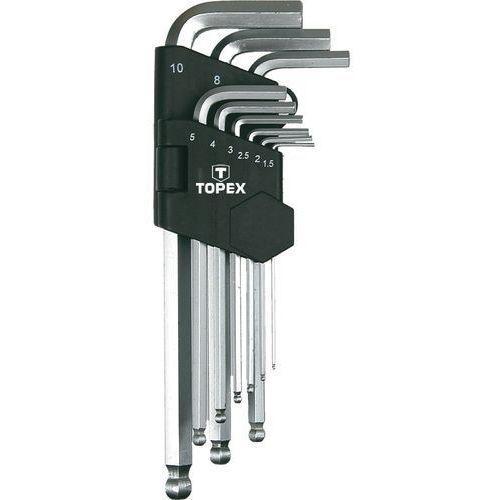 Topex Zestaw kluczy sześciokątnych  35d957 kuliste długie 1.5 - 10 mm (9 elementów)
