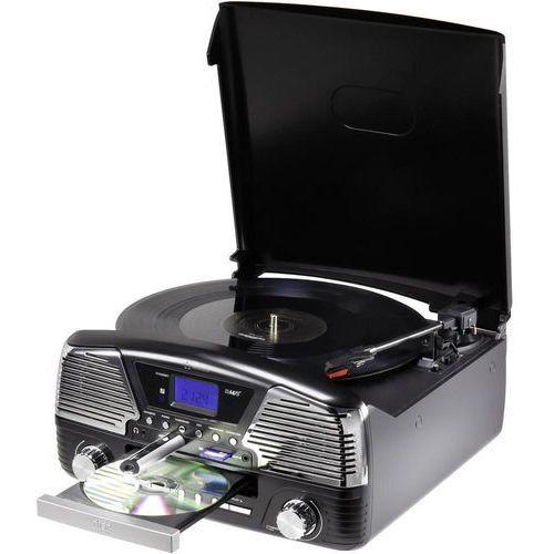 Renkforce Gramofon  mt-35, audio/mp3 cd, karty pamięci sd, nagrywanie na usb, kartę sd, czarny
