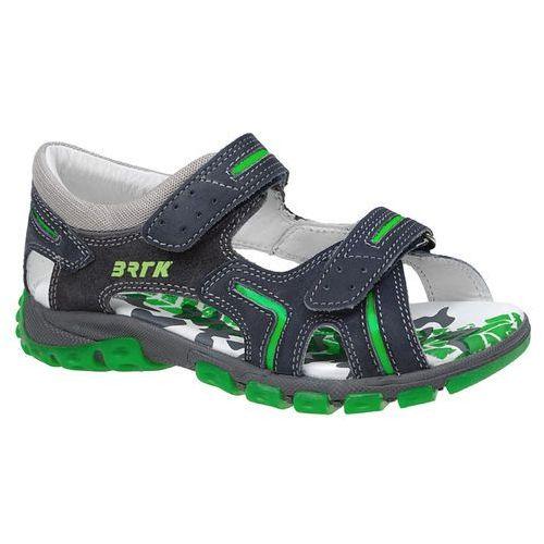 Sandałki na rzepy BARTEK 66158 - Multikolor ||Granatowy ||Szary ||Grafitowy ||Zielony, kolor wielokolorowy