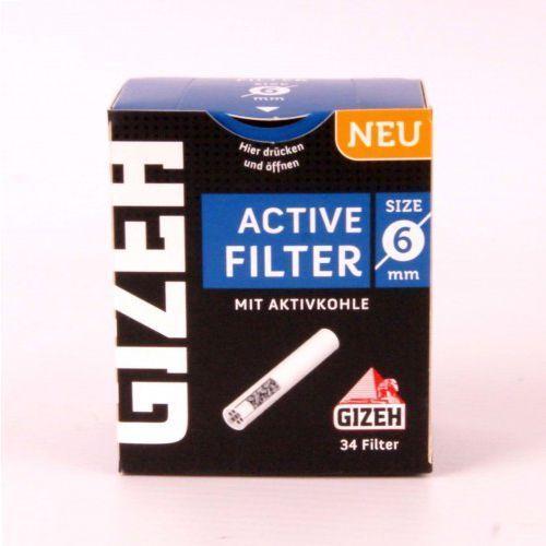 Filtr fajkowy, filtry do fajki 6 mm GIZEH 34 szt, gizeh6mm