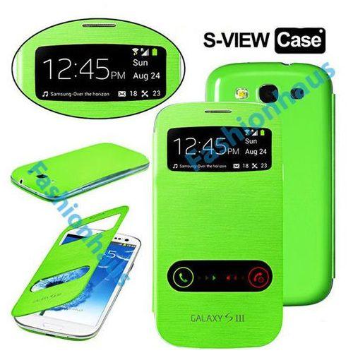 Etui Flip Cover S-View do Samsung Galaxy S3 Zielone - Zielony, kolor zielony