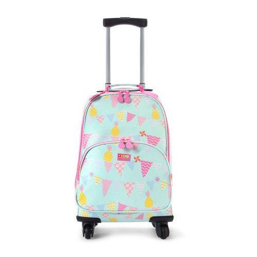 Penny Scallan Design, walizka na czterech kółkach, miętowo-różowy w ananasy z kategorii walizeczki