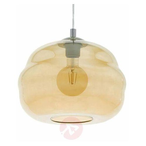 Eglo dogato 39533 lampa wisząca zwis oprawa 1x60w e27 bursztynowa (9002759395339)