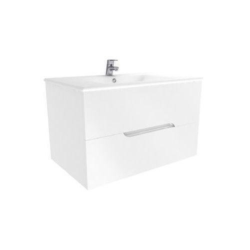 New Trendy Frea szafka podumywalkowa biały połysk 80 cm ML-8082