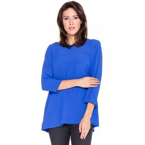 Zwiewna bluzka w kolorze indygo - Bialcon
