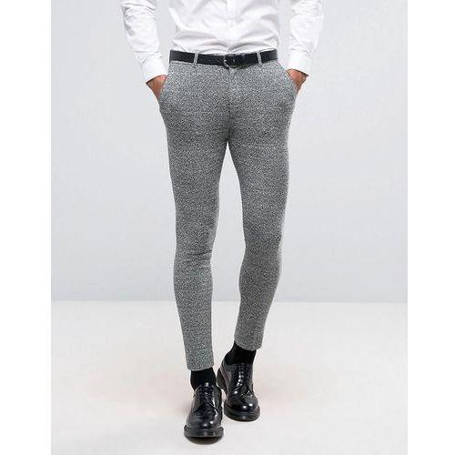 ASOS WEDDING Super Skinny Suit Trousers in Green And Grey Jersey Twist - Green z kategorii Pozostałe