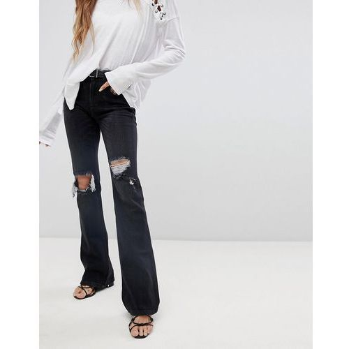 Free People Authentic ripped flared jeans - Black, jeans