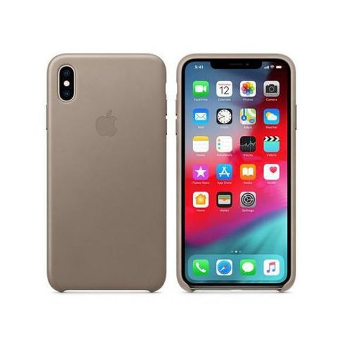 Apple leather case do iphone xs max, taupe