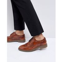 turner leather brogue shoes in tan - tan, Base london